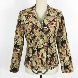 Bamboo Traders Blazer Small Petite Butterfly Print